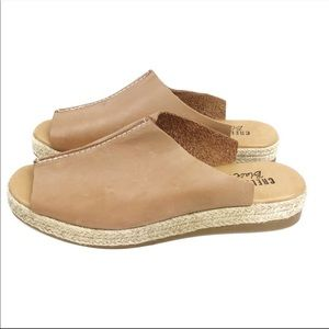 Chelsea Crew NEW Mel Tan Leather Slides Size 6